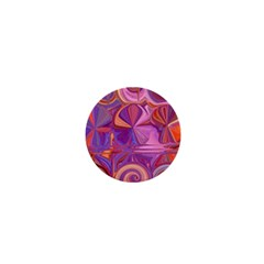 Candy Abstract Pink, Purple, Orange 1  Mini Buttons