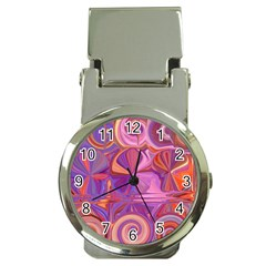Candy Abstract Pink, Purple, Orange Money Clip Watches