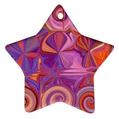 Candy Abstract Pink, Purple, Orange Star Ornament (Two Sides)