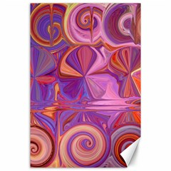 Candy Abstract Pink, Purple, Orange Canvas 24  X 36