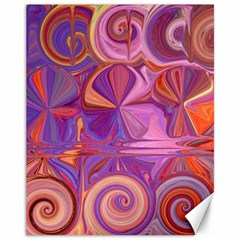 Candy Abstract Pink, Purple, Orange Canvas 11  x 14