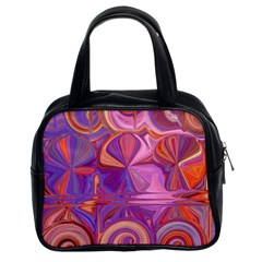 Candy Abstract Pink, Purple, Orange Classic Handbags (2 Sides)