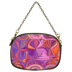 Candy Abstract Pink, Purple, Orange Chain Purses (one Side)