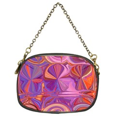 Candy Abstract Pink, Purple, Orange Chain Purses (two Sides)