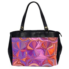 Candy Abstract Pink, Purple, Orange Office Handbags (2 Sides)