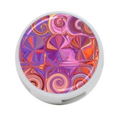 Candy Abstract Pink, Purple, Orange 4-Port USB Hub (Two Sides)