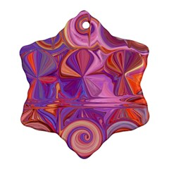 Candy Abstract Pink, Purple, Orange Snowflake Ornament (2-Side)