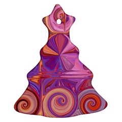 Candy Abstract Pink, Purple, Orange Christmas Tree Ornament (2 Sides)