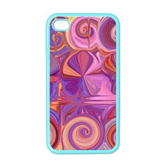 Candy Abstract Pink, Purple, Orange Apple iPhone 4 Case (Color)