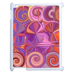 Candy Abstract Pink, Purple, Orange Apple iPad 2 Case (White)