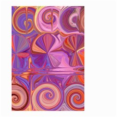 Candy Abstract Pink, Purple, Orange Small Garden Flag (Two Sides)
