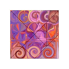 Candy Abstract Pink, Purple, Orange Acrylic Tangram Puzzle (4  x 4 )