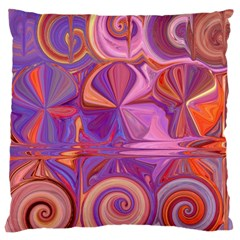 Candy Abstract Pink, Purple, Orange Large Cushion Case (One Side)