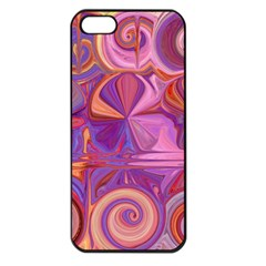 Candy Abstract Pink, Purple, Orange Apple Iphone 5 Seamless Case (black)