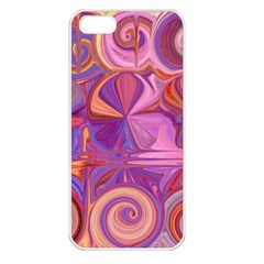 Candy Abstract Pink, Purple, Orange Apple Iphone 5 Seamless Case (white)