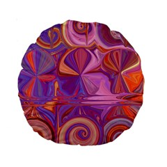 Candy Abstract Pink, Purple, Orange Standard 15  Premium Round Cushions