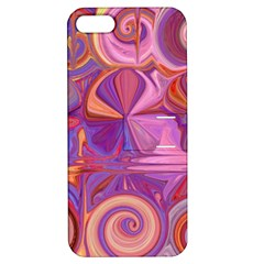 Candy Abstract Pink, Purple, Orange Apple Iphone 5 Hardshell Case With Stand
