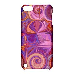 Candy Abstract Pink, Purple, Orange Apple Ipod Touch 5 Hardshell Case With Stand