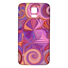 Candy Abstract Pink, Purple, Orange Samsung Galaxy S5 Back Case (white)