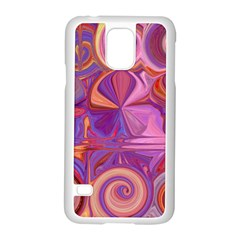 Candy Abstract Pink, Purple, Orange Samsung Galaxy S5 Case (White)