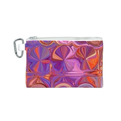 Candy Abstract Pink, Purple, Orange Canvas Cosmetic Bag (S)