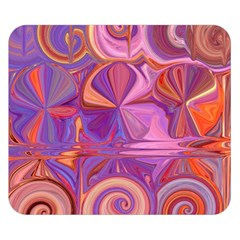 Candy Abstract Pink, Purple, Orange Double Sided Flano Blanket (small)