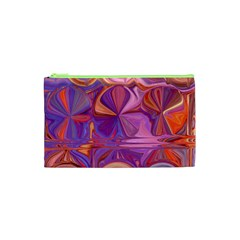 Candy Abstract Pink, Purple, Orange Cosmetic Bag (XS)