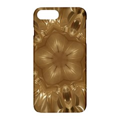 Elegant Gold Brown Kaleidoscope Star Apple Iphone 7 Plus Hardshell Case