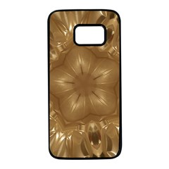Elegant Gold Brown Kaleidoscope Star Samsung Galaxy S7 Black Seamless Case