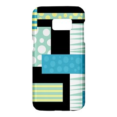 Blue Collage Samsung Galaxy S7 Hardshell Case
