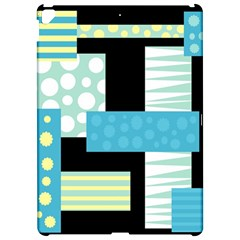 Blue collage Apple iPad Pro 12.9   Hardshell Case