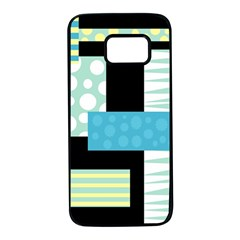 Blue Collage Samsung Galaxy S7 Black Seamless Case