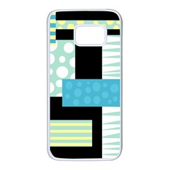 Blue collage Samsung Galaxy S7 White Seamless Case