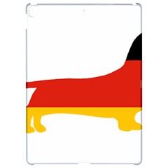 Dachshund Germany Flag Silhouette Apple iPad Pro 12.9   Hardshell Case