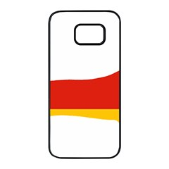 Dachshund Germany Flag Silhouette Samsung Galaxy S7 edge Black Seamless Case