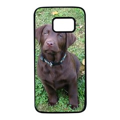 Chocolate Lab Pup Samsung Galaxy S7 Black Seamless Case