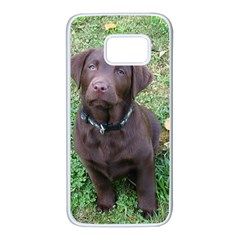 Chocolate Lab Pup Samsung Galaxy S7 White Seamless Case