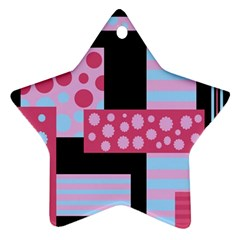 Pink Collage Ornament (star)