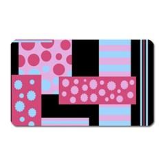Pink collage Magnet (Rectangular)