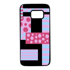 Pink Collage Samsung Galaxy S7 Black Seamless Case