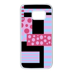 Pink collage Samsung Galaxy S7 White Seamless Case