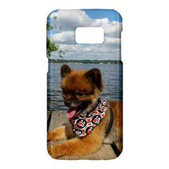 Pom Pup On Dock Samsung Galaxy S7 Hardshell Case
