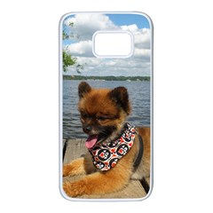 Pom Pup On Dock Samsung Galaxy S7 White Seamless Case
