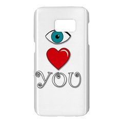 I love you Samsung Galaxy S7 Hardshell Case