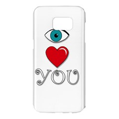 I love you Samsung Galaxy S7 Edge Hardshell Case