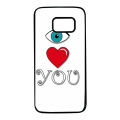 I love you Samsung Galaxy S7 Black Seamless Case