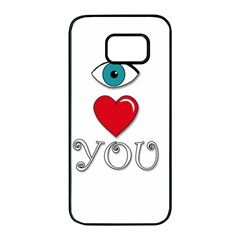 I love you Samsung Galaxy S7 edge Black Seamless Case