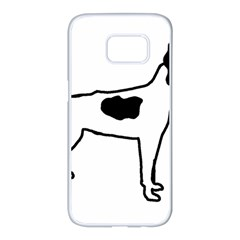 Rat Terrier Silo Color Samsung Galaxy S7 edge White Seamless Case