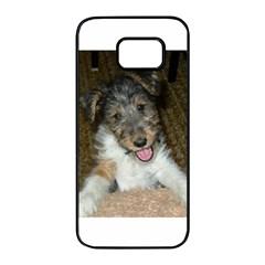 Wire Fox Terrier Cute Pup Samsung Galaxy S7 edge Black Seamless Case