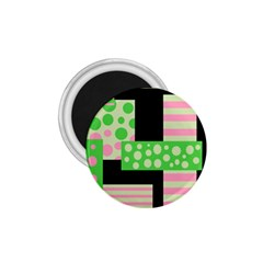 Green and pink collage 1.75  Magnets